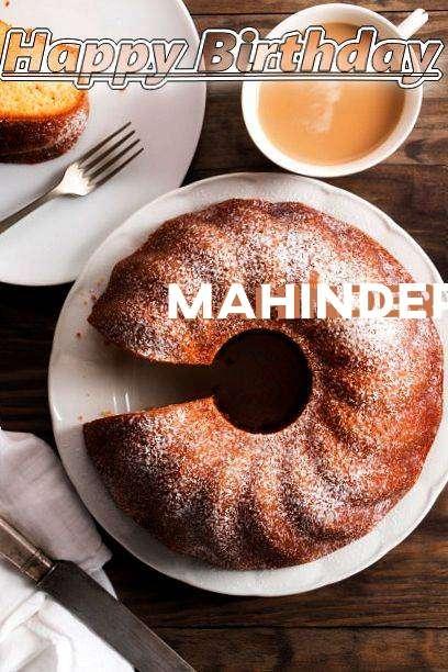 Happy Birthday Mahinder Cake Image