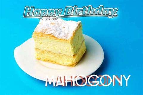 Happy Birthday Mahogony Cake Image