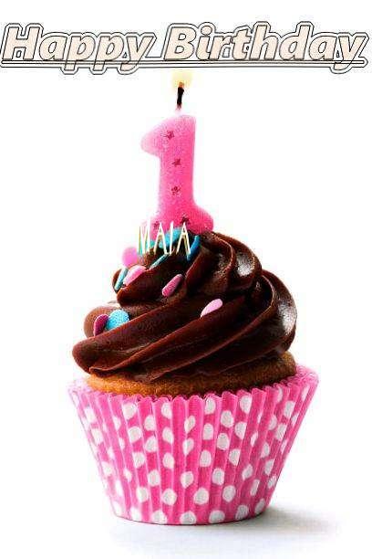 Happy Birthday Maia Cake Image