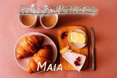 Happy Birthday Wishes for Maia