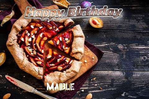 Happy Birthday Maible Cake Image