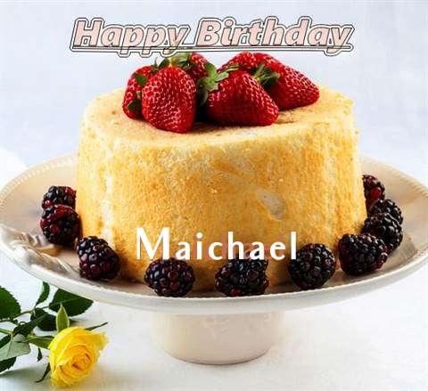 Happy Birthday Maichael Cake Image