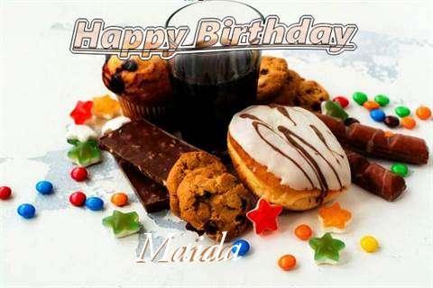 Happy Birthday Wishes for Maida