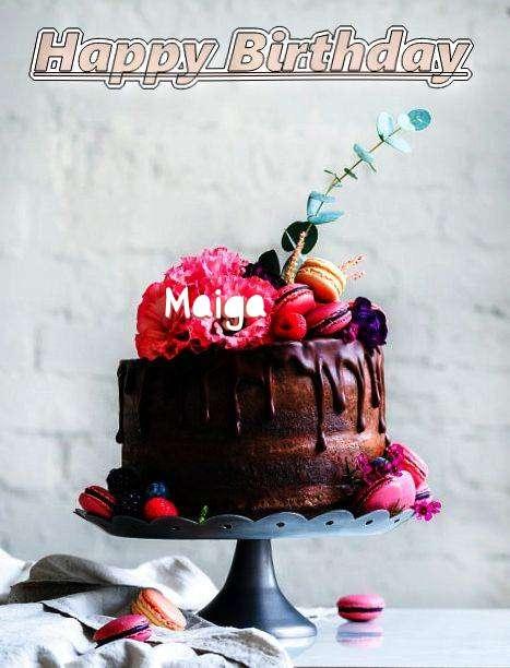 Happy Birthday Maiga Cake Image