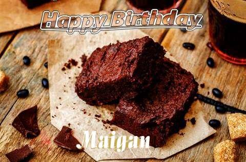Happy Birthday Maigan Cake Image