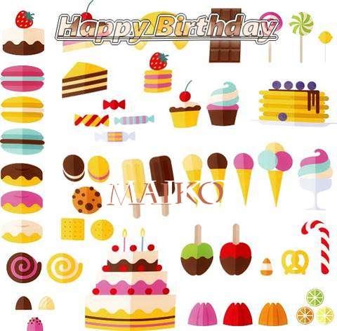 Happy Birthday Maiko Cake Image
