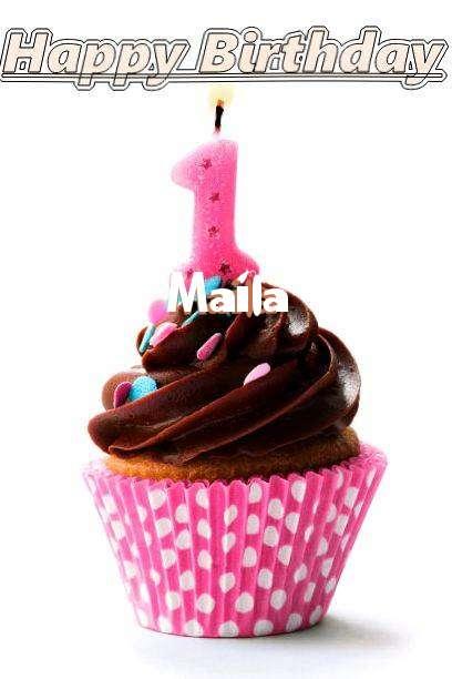 Happy Birthday Maila Cake Image