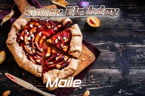 Happy Birthday Maile Cake Image