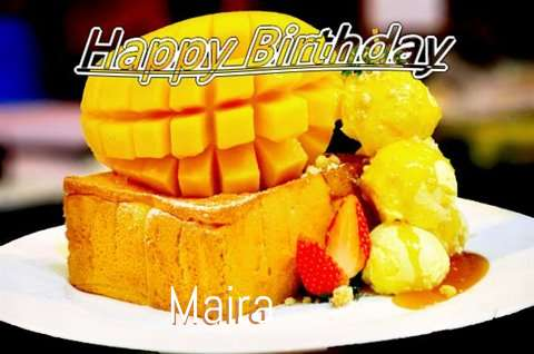 Birthday Wishes with Images of Maira