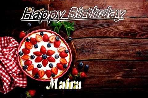 Happy Birthday Maira Cake Image