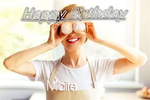 Happy Birthday Wishes for Maite