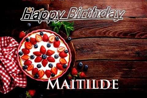 Happy Birthday Maitilde Cake Image