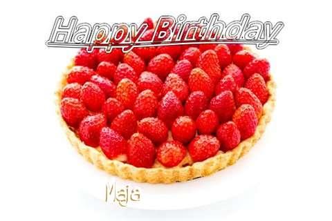 Happy Birthday Maja Cake Image