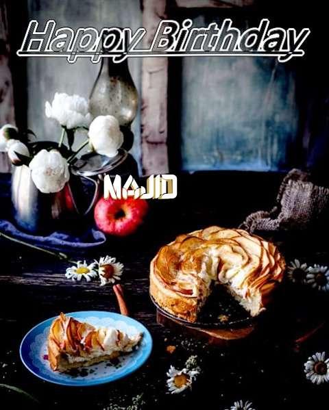 Happy Birthday Majid Cake Image