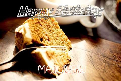 Happy Birthday Majunew Cake Image