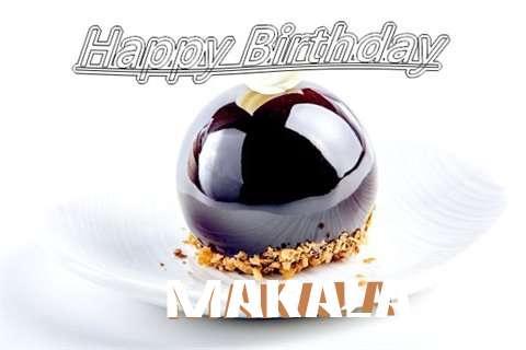 Happy Birthday Cake for Makala