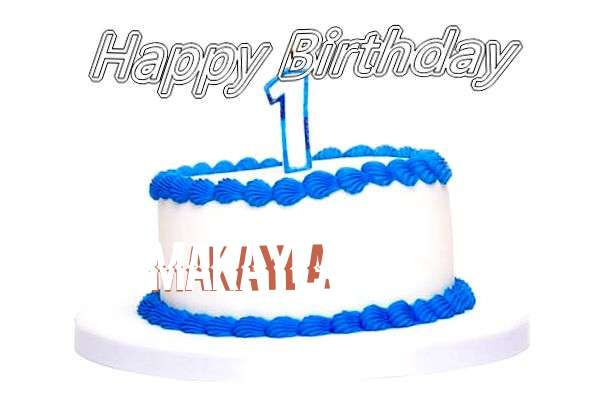 Happy Birthday Cake for Makayla