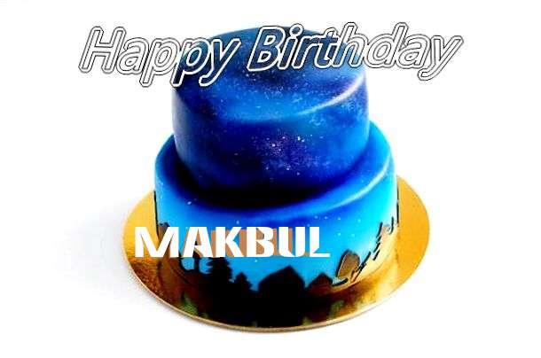 Happy Birthday Cake for Makbul