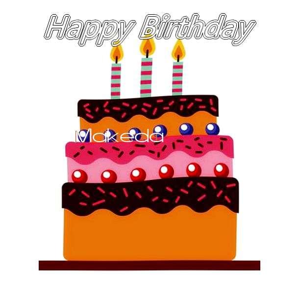 Happy Birthday Makeda Cake Image