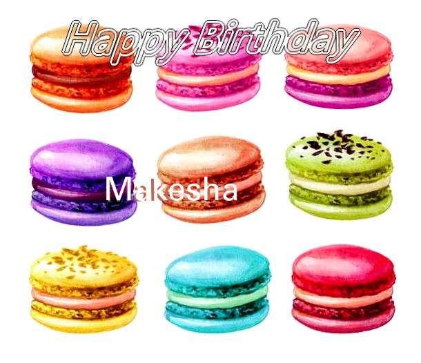 Happy Birthday Cake for Makesha
