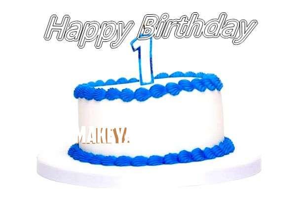 Happy Birthday Cake for Makeya