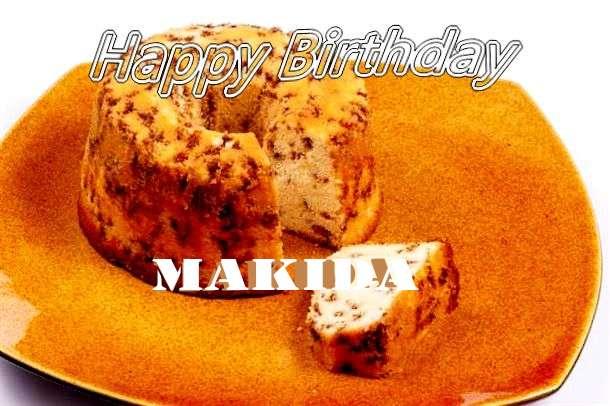 Happy Birthday Cake for Makida