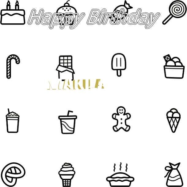 Happy Birthday Cake for Makila