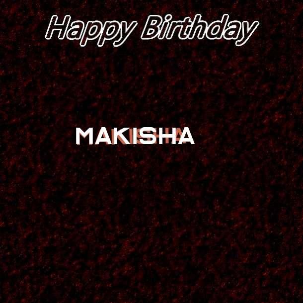 Happy Birthday Makisha Cake Image