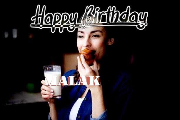 Happy Birthday Cake for Malak