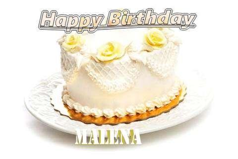 Happy Birthday Cake for Malena
