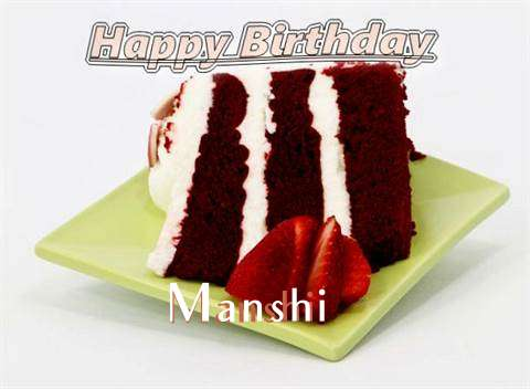 Birthday Wishes with Images of Manshi