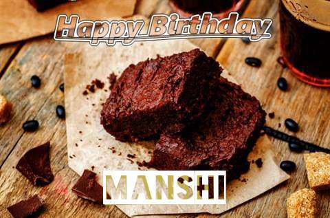 Happy Birthday Manshi Cake Image