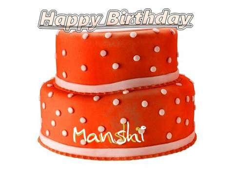 Happy Birthday Cake for Manshi