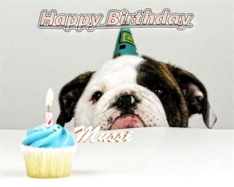 Birthday Wishes with Images of Mussi