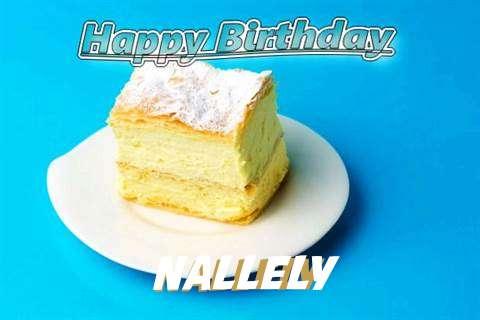 Happy Birthday Nallely Cake Image