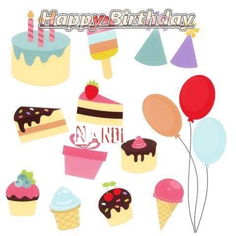 Happy Birthday Wishes for Nandi