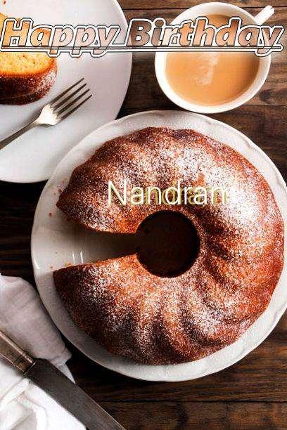 Happy Birthday Nandram Cake Image