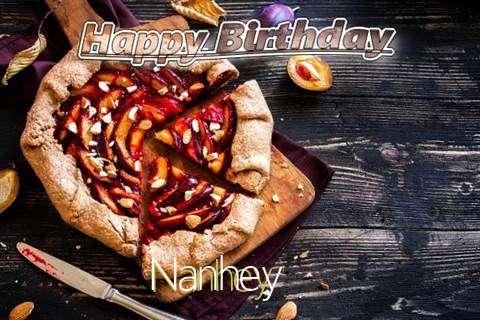 Happy Birthday Nanhey Cake Image