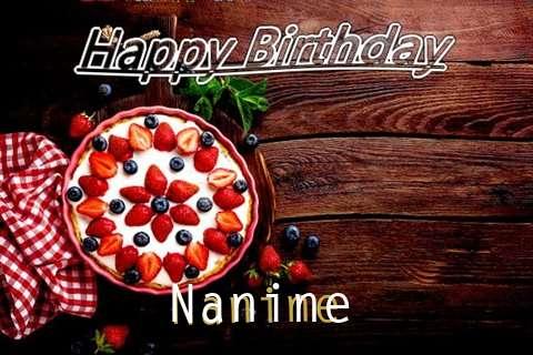 Happy Birthday Nanine Cake Image