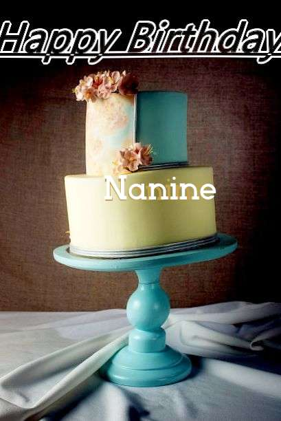 Happy Birthday Cake for Nanine