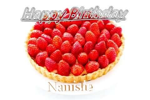 Happy Birthday Nanisha Cake Image