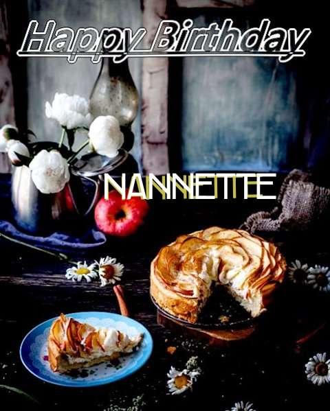 Happy Birthday Nannette Cake Image