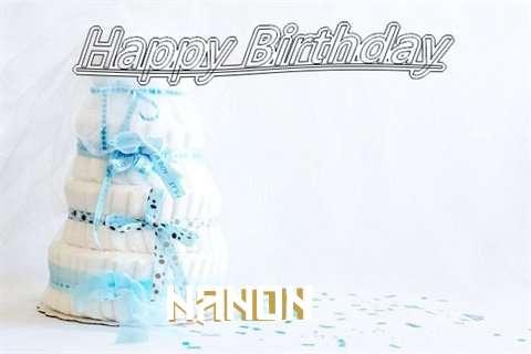 Happy Birthday Nanon Cake Image