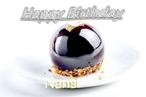 Happy Birthday Cake for Nansi