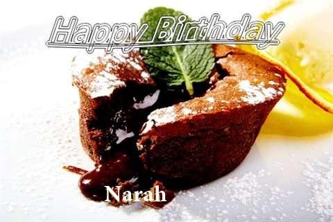 Happy Birthday Wishes for Narah