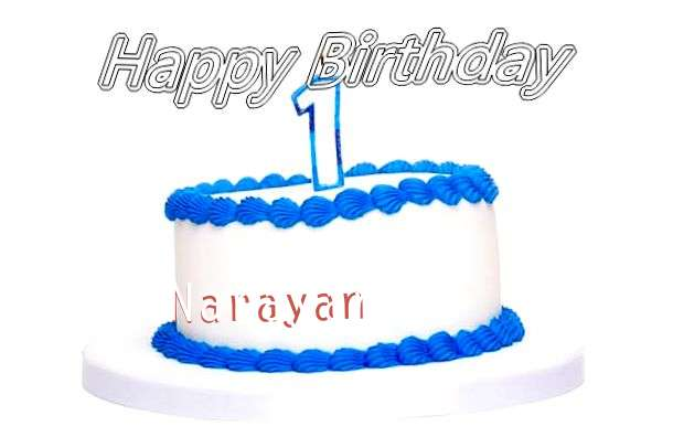 Happy Birthday Cake for Narayan