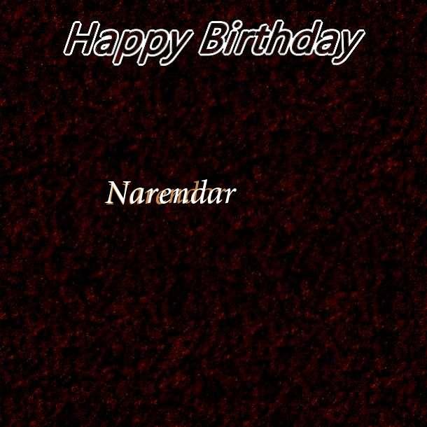 Happy Birthday Narendar Cake Image