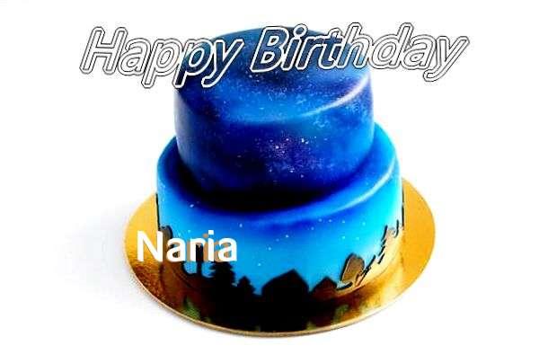 Happy Birthday Cake for Naria