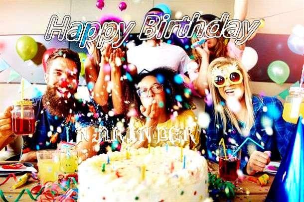 Happy Birthday Narinder Cake Image