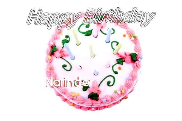 Happy Birthday Cake for Narinder